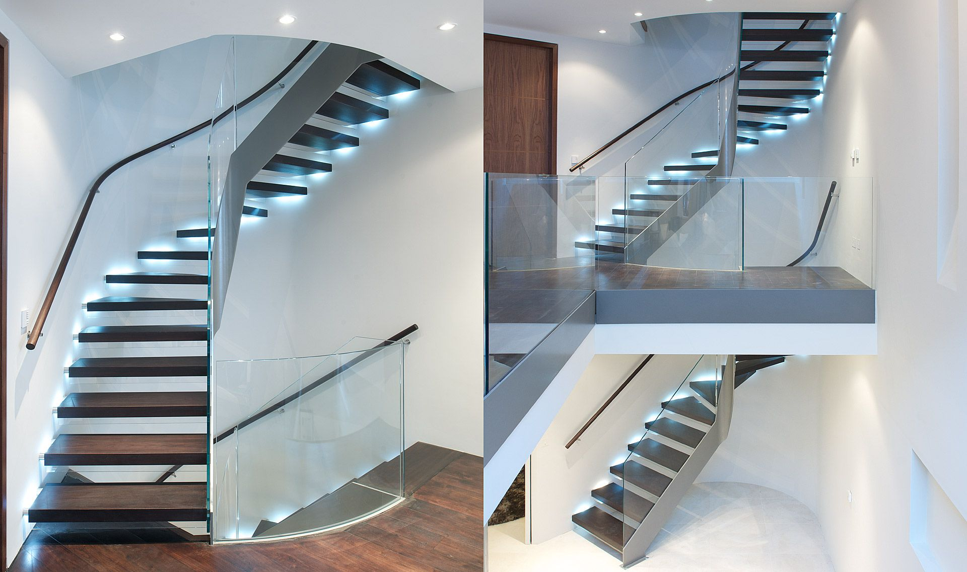 Best Stairs Floating Tread Helical Tintab Contemporary 400 x 300