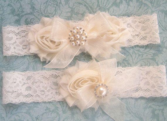 Vintage Inspired Rhinestone Wedding garter  bridal garter lace garter  toss garter    Shabby Chic