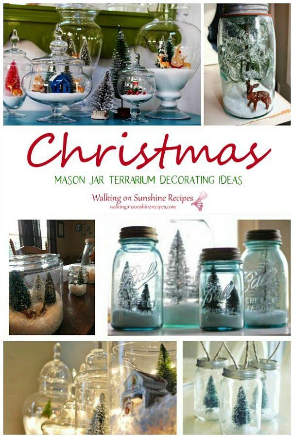Christmas Terrariums Decorating Ideas Christmas Mason Jars Mason Jar Terrarium Christmas Centerpieces