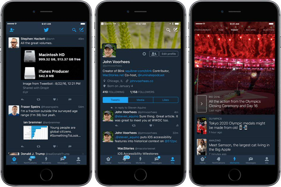 Twitter app night mode for iOS now released
