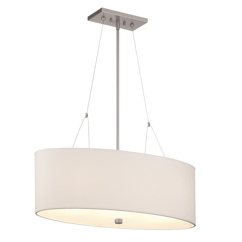 Kitchen Drum Light Kitchen Island Philips Forecast F44 3 Light Alexis Oval Large