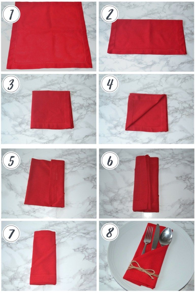 Napkin folding: 3 ideas for your Christmas table #diynapkinfolding