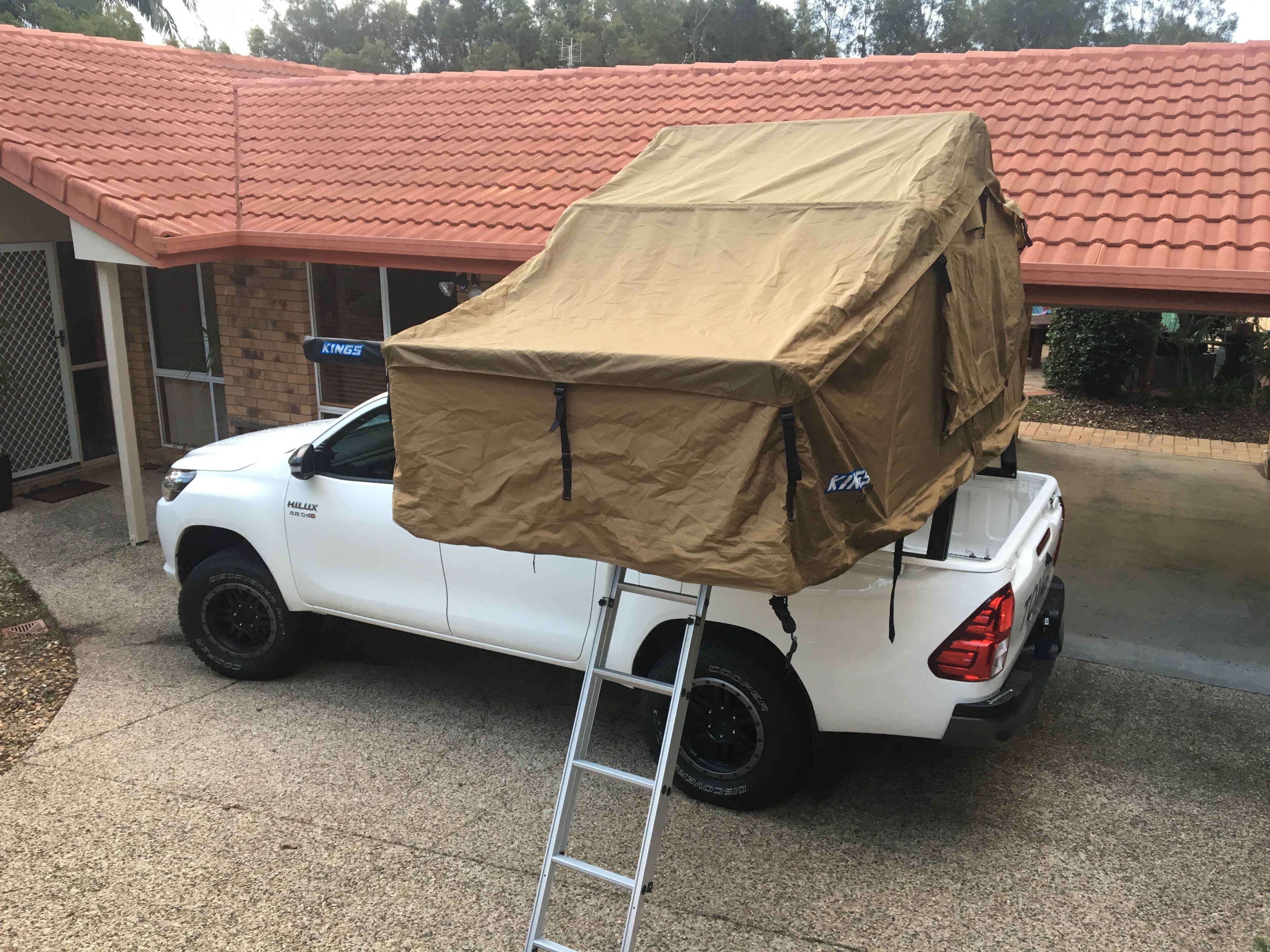 Adventure Kings Roof Top Tent Weight rooftop tent toyota hilux bed rack | roof top tent, toyota