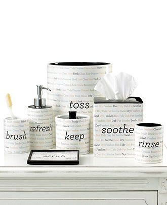. Martha Stewart Collection Bath Accessories  Words Tumbler   Bathroom