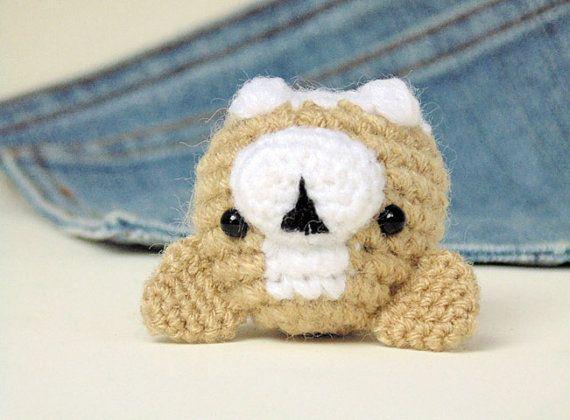 Tutorial Amigurumi Pinguino : Amigurumi corgi. cute corgi plushie with a bone by owlystore