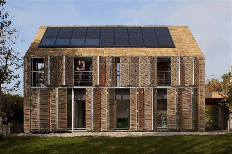 "MAISON BESSANCOURT  1°CERTIFIED PASSIVE & PLUS ENERGY HOUSE IN ""PARIS""  BESSANCOURT, ÎLE-DE-FRANCE / FRANCE / 2009 by Karawitz Architecture #sustainability #green"