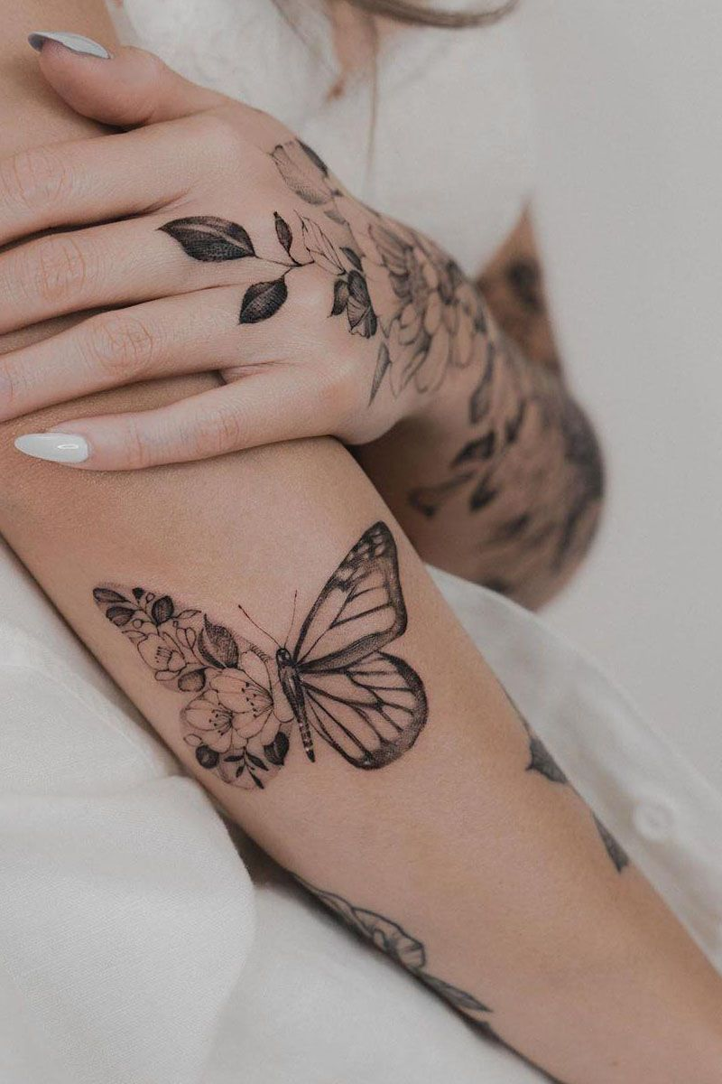 55 Adorable Butterfly Tattoos That You Must See -  55 Adorable Butterfly Tattoos That You Must See