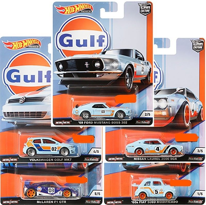 Hot Wheels 2019 Car Culture Gulf Racing 10 Car Case Fpy86 956g