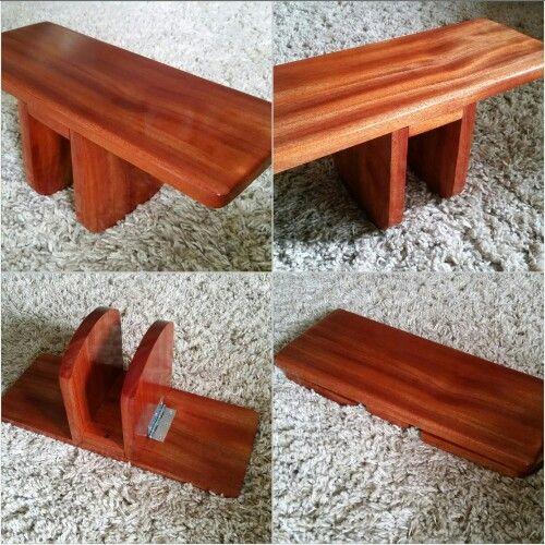 Folding Pi Meditation Bench Made Of African Mahogany By I
