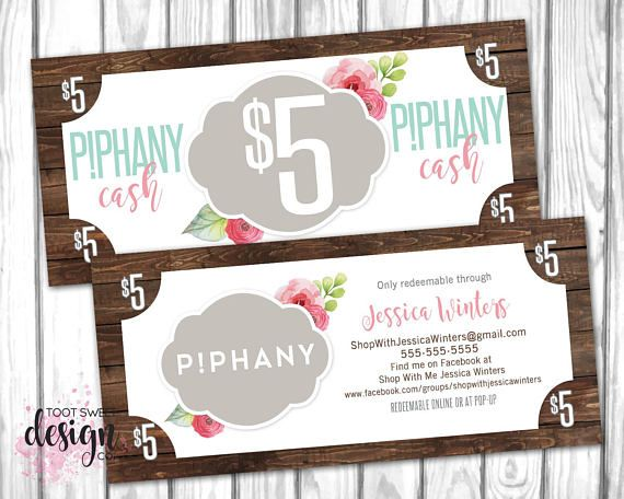 Piphany cash piphany money dollars coupon pphany gift certificate piphany cash piphany money dollars coupon pphany gift certificate gift card voucher promotional dollars shabby chic rustic wood vintage floral design colourmoves