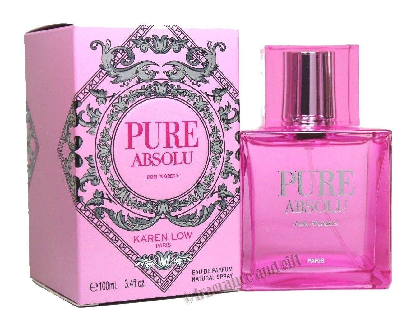 Pure Absolu Perfume By Karen Low 3.4 Oz EDP Spray For Women