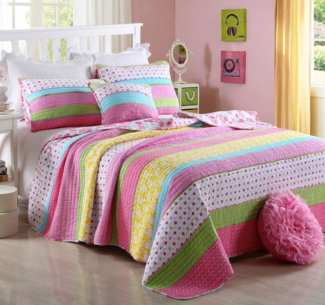Daisy Rainbow Single to King Single Bed Coverlet Set Range - Shop ... : single quilted bedspreads - Adamdwight.com
