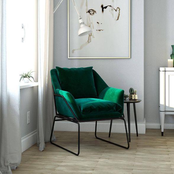 Best Alisa Accent Chair Green Velvet Room Joy Velvet 400 x 300