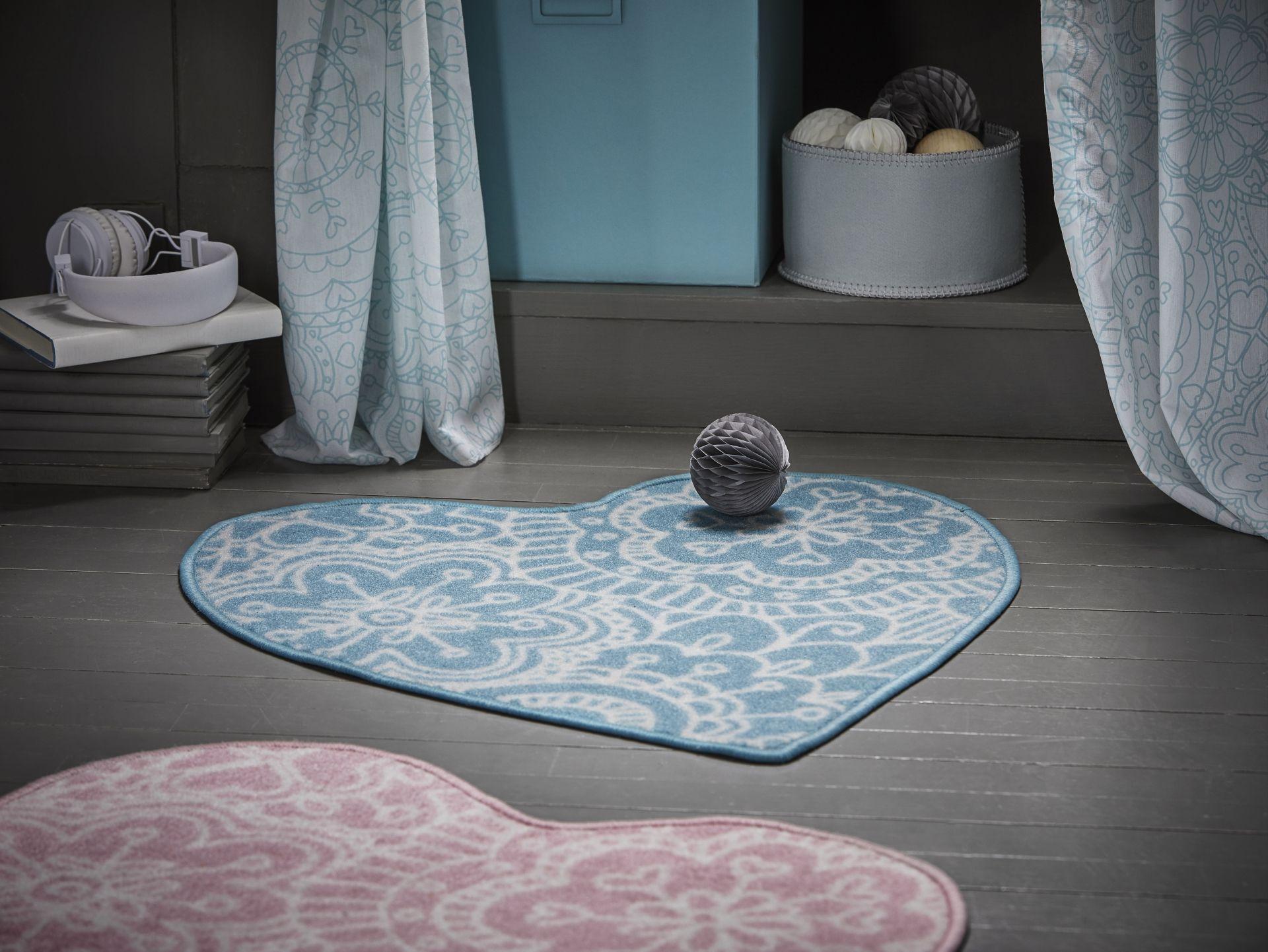 Roze Blauwe Kinderkamers : VÄnskaplig vloerkleed roze in textiel ikea