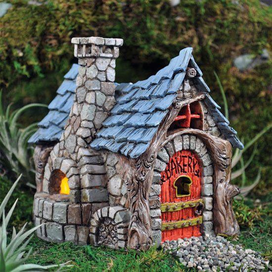 Fiddlehead Fairy Miniature Bakery Garden Housesbird