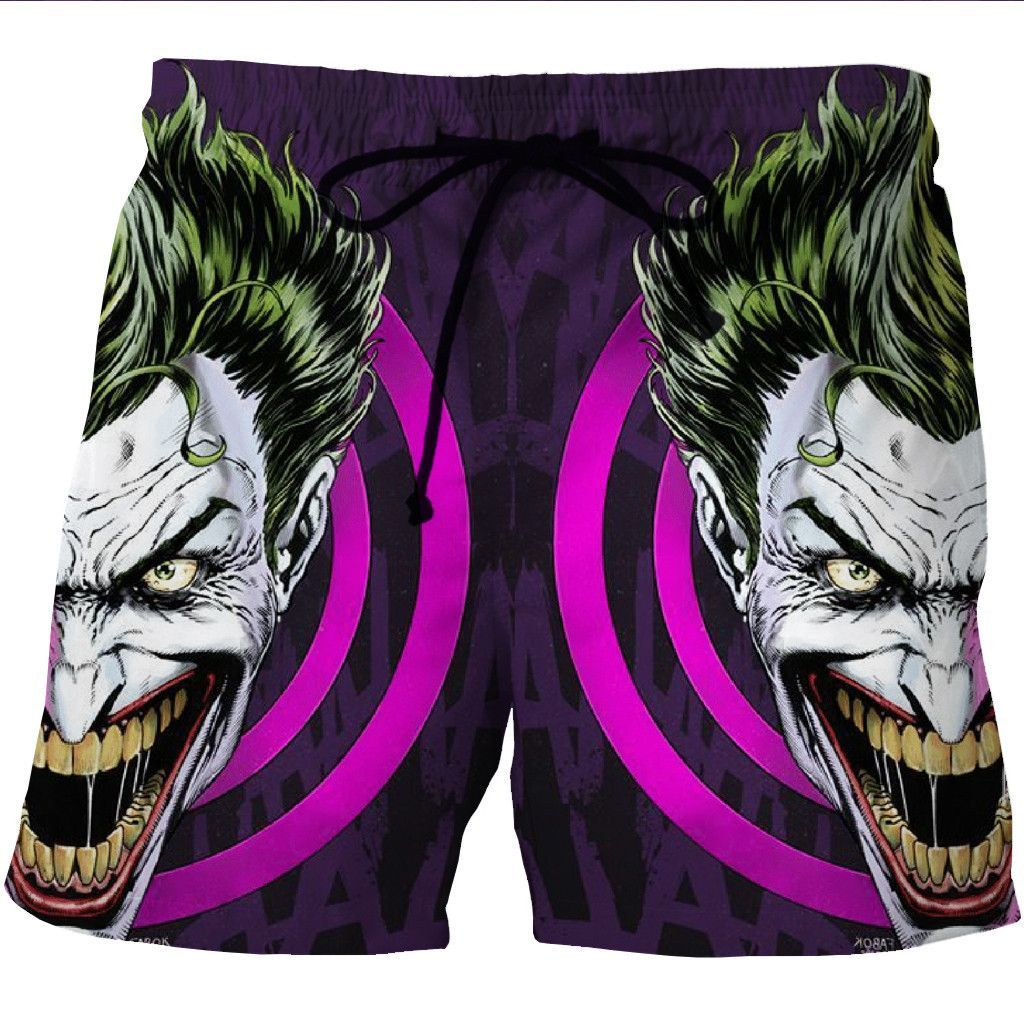 Batman Crazy Joker Board Shorts 3d Designed Swim Trunks Styled Shorts Sweat Shorts Men Mens Boardshorts Beach Shorts