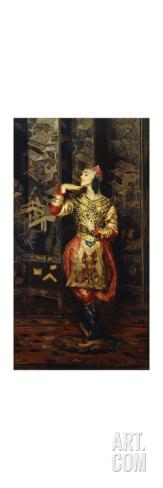 Vaslav Nijinsky in Danse Orientale Premium Giclee Print at Art.com