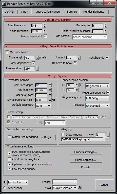 Studio render settings for nice interior scene  Tip for 3ds