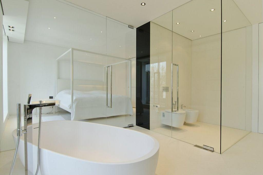 Penthouse Oder Altbau 15 Wohnideen Aus Zwei Eigentumswohnungen In Munchen Badezimmer Offene Bader Weisse Badezimmer