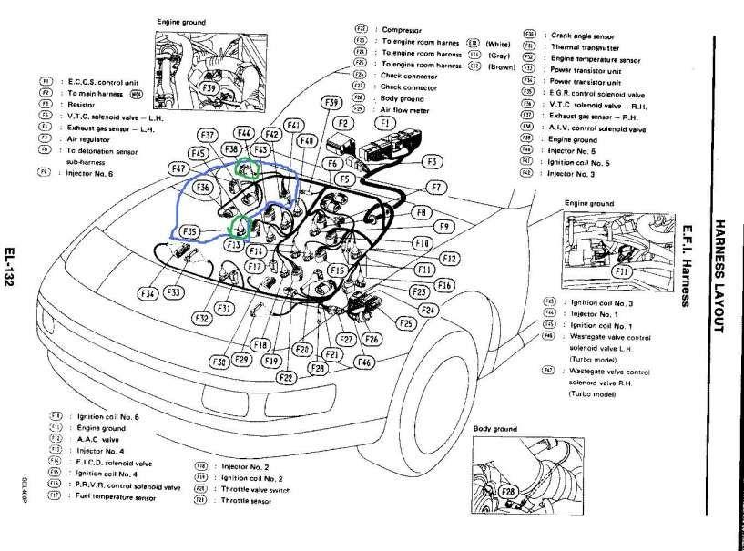 16 300zx engine wiring harness diagram  nissan 300zx