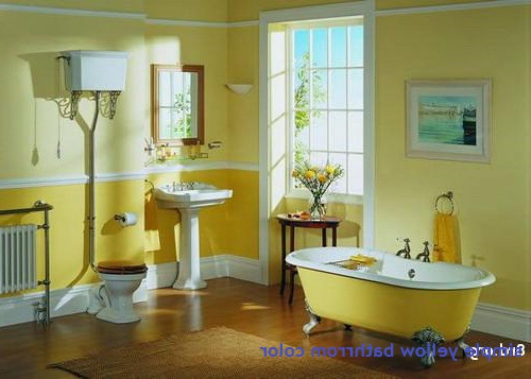 Bathroom Yellow Tile Paint Colors Trends Ideas Bathroom Category With Post Excellent Yellow Tile B Yellow Bathroom Decor Yellow Bathrooms Yellow Bathroom Paint
