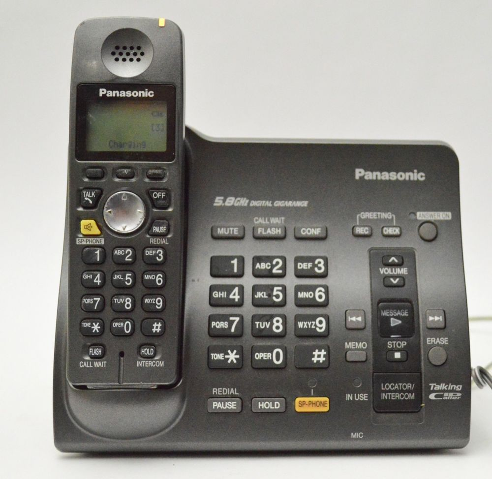 Panasonic Kx Tg6071b 58 Ghz Cordless Base Phone Wanswering Machine