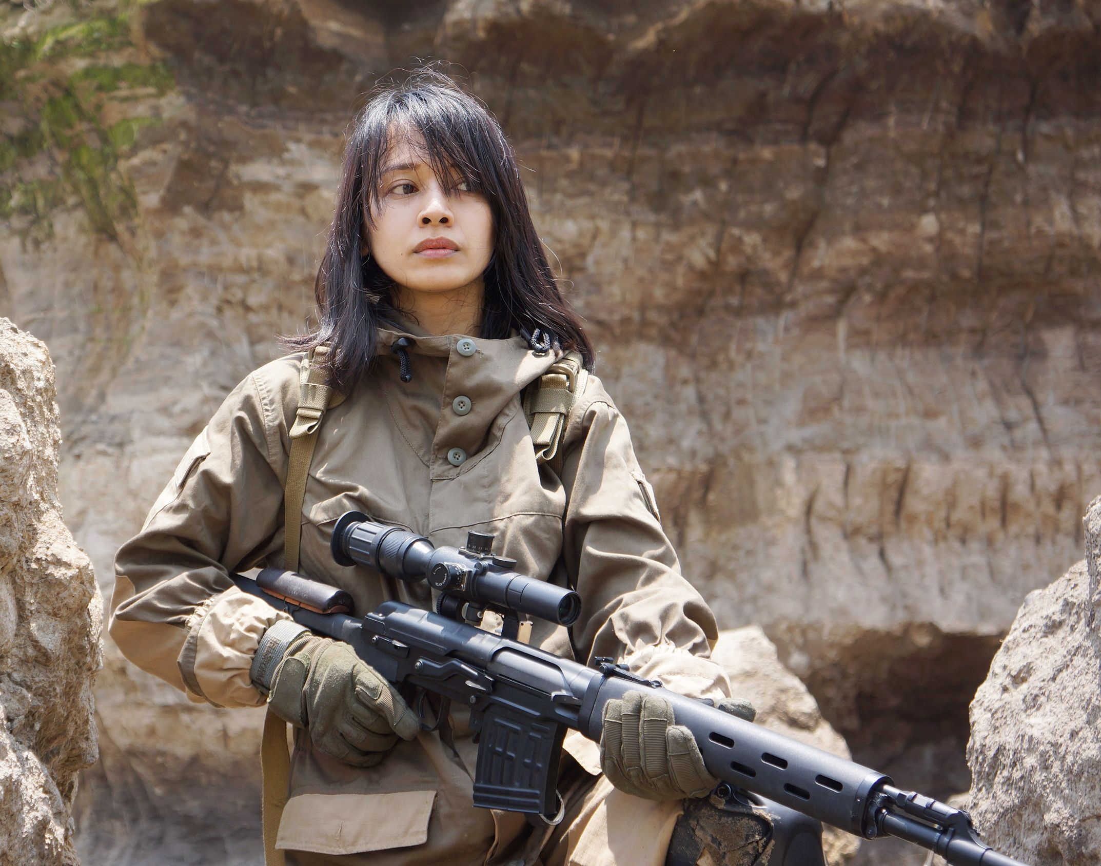 airsoft girl, girls army, sniper woman, milsim operator, gun & girl,