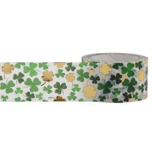 "1"" gold foil shamrock washi tape for Candy Bar Wraps pebblesinmypocket.com"