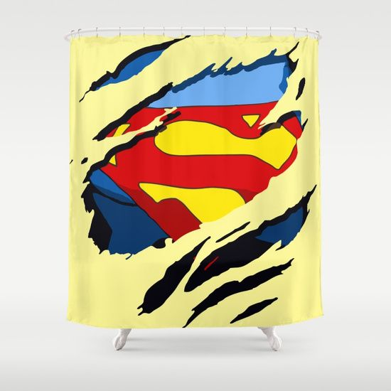 Superhero Torn Superman Shower Curtain Shower Curtain