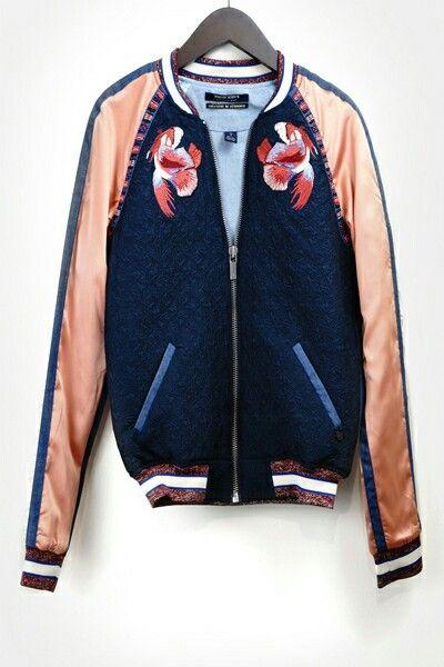 fb6d3c5a3 Maison Scotch bomber jacket   Accidental Icon Loves Sukajan Bombers ...