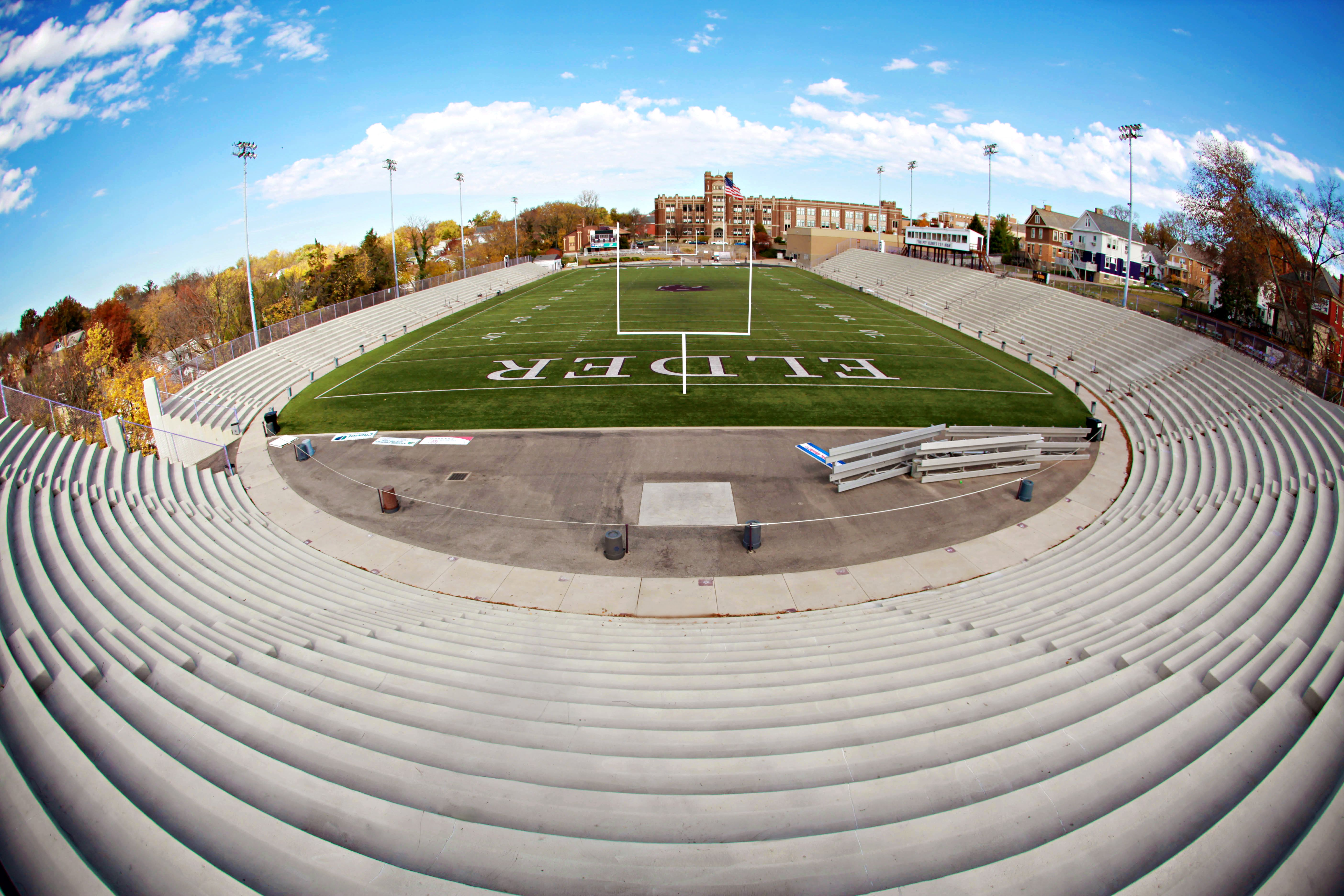 Fisheye view of The Pit High school football games, High