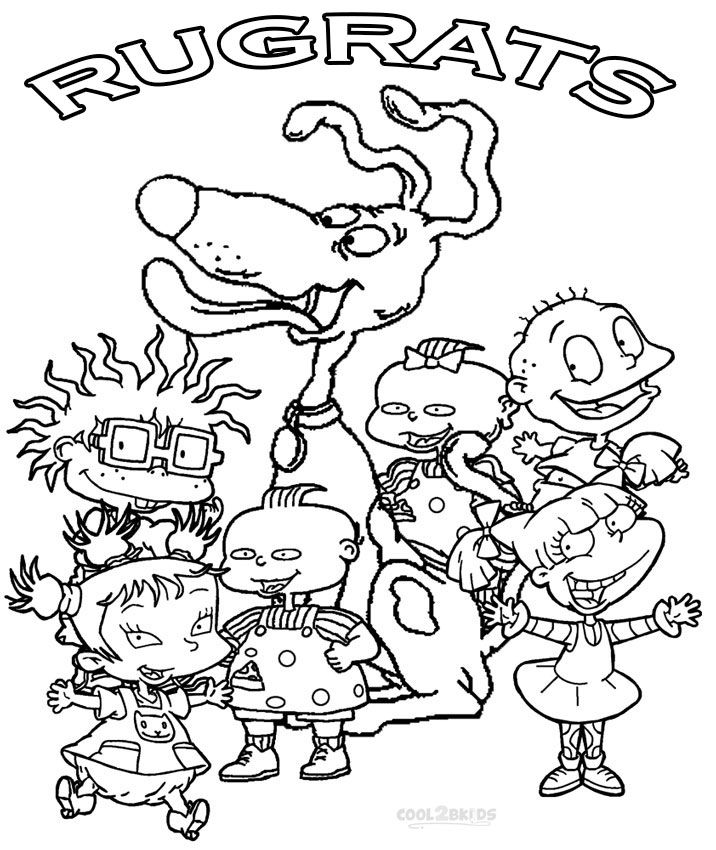 printable rugrats coloring pages for kids cool2bkids coloring