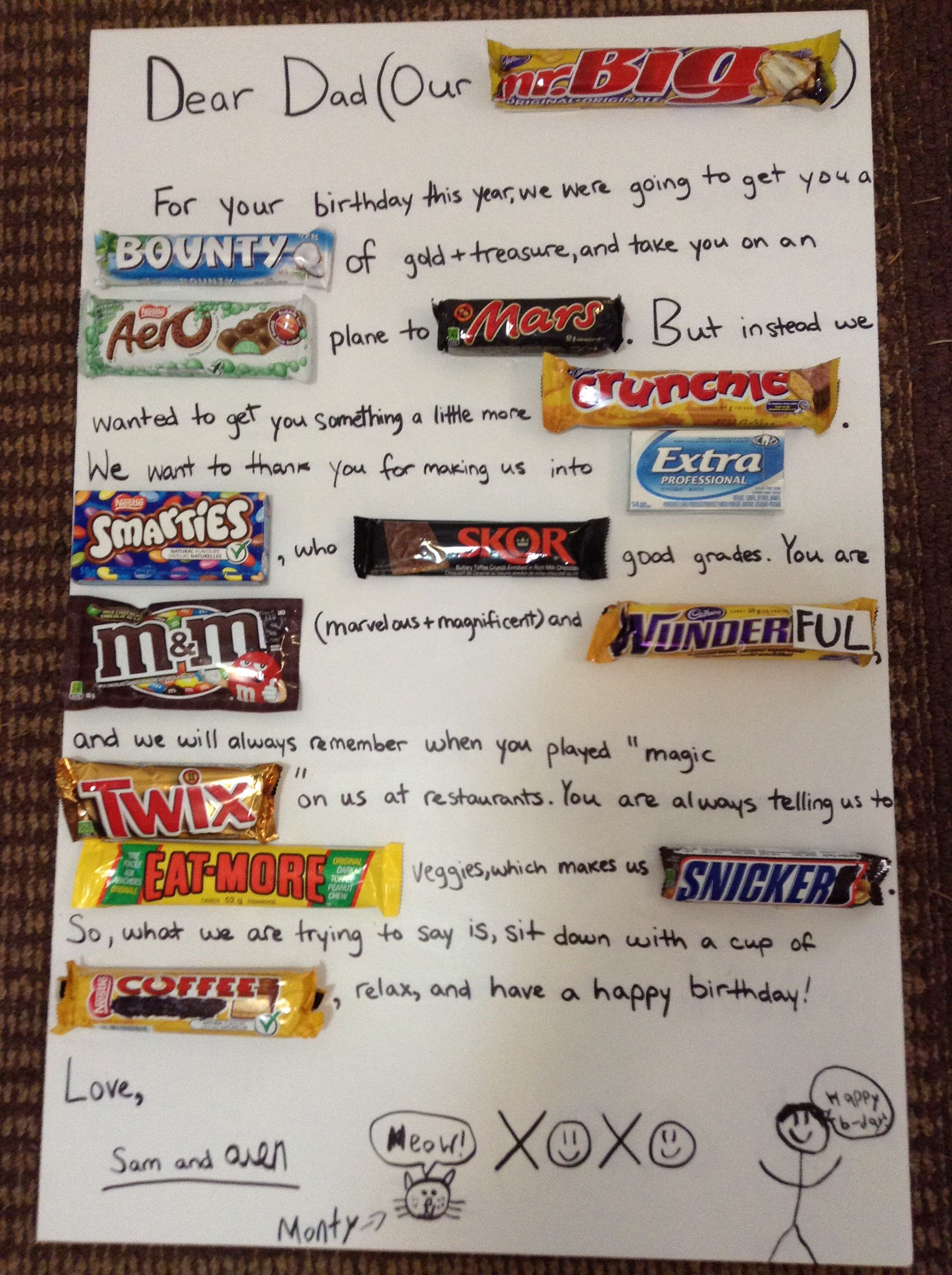Dad S Birthday Gift Quick Easy Great Homemade Present