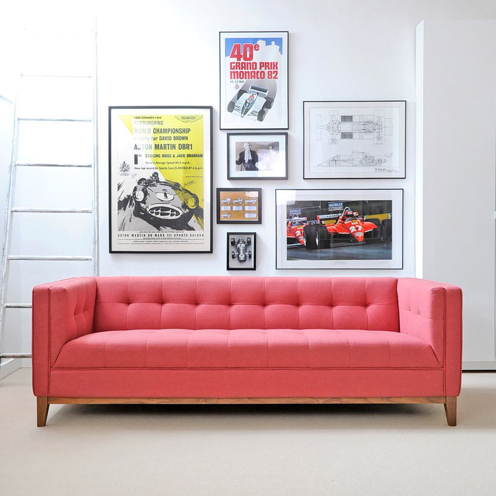 Gus* Modern Atwood Sofa In Berkeley Coral