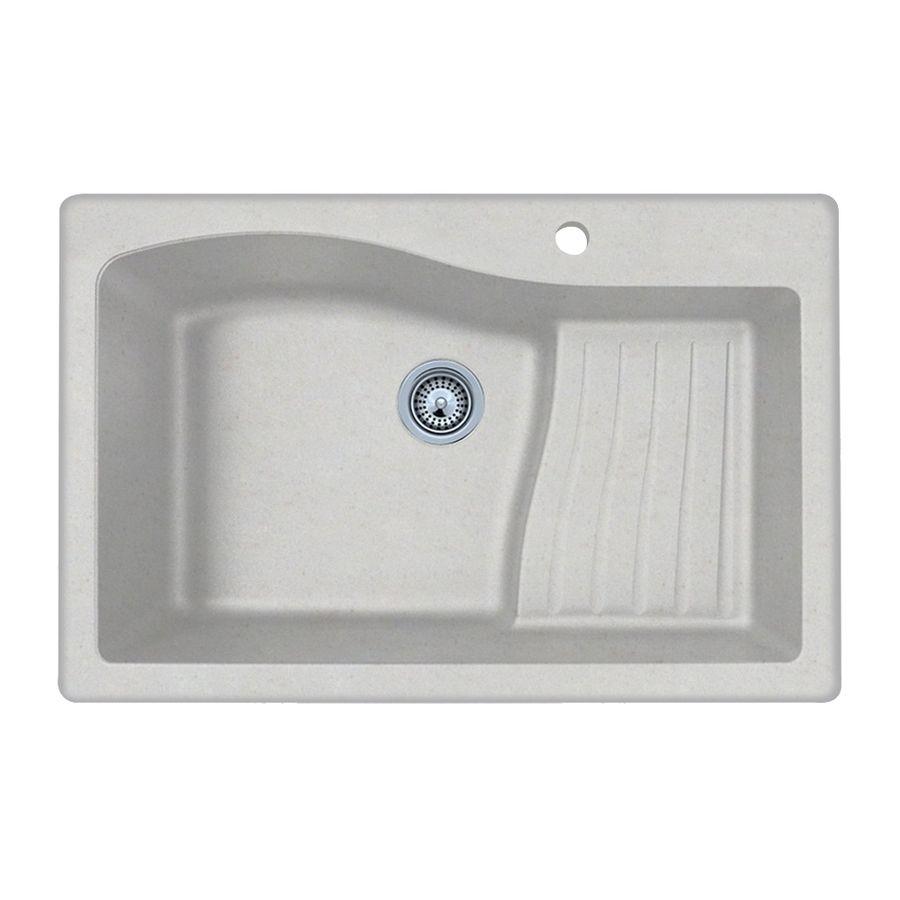 Swan 22 In X 33 In Bianca Single Basin Basin Granite Drop In Or