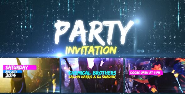 Party Invitation  • After Effects Template • See it in action ➝…