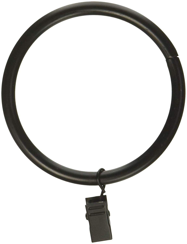 Amazon Com Rod Desyne 2 1 2 Inch Curtain Rings W Clip Cocoa