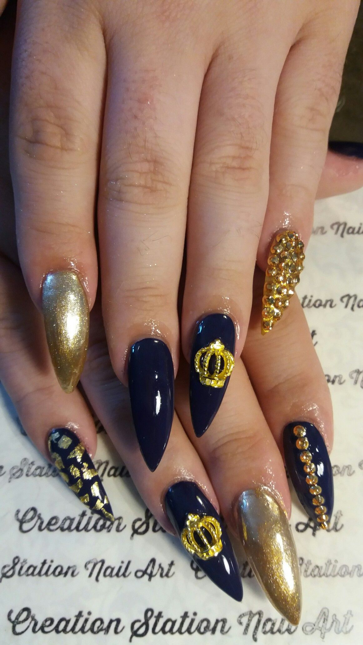 Pin by Rita Loves Nail Art on almond/ stiletto/ coffin shaped nails ...