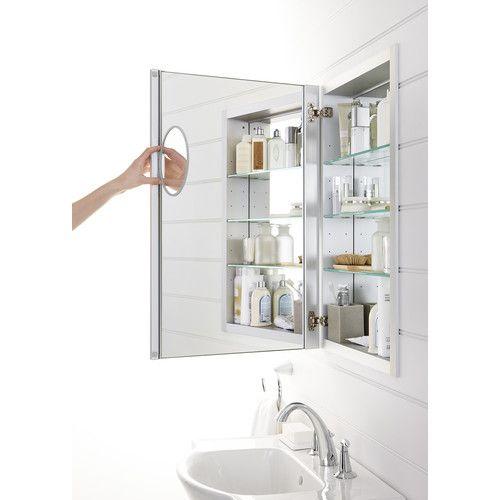 Verdera Aluminum Medicine Cabinet With Adjustable Magnifying