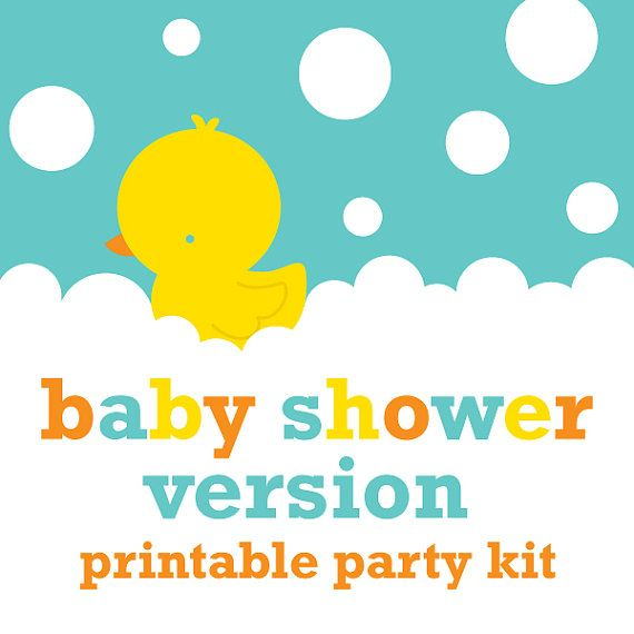 rubber ducky baby shower decorations - neutral baby shower table, Baby shower invitations