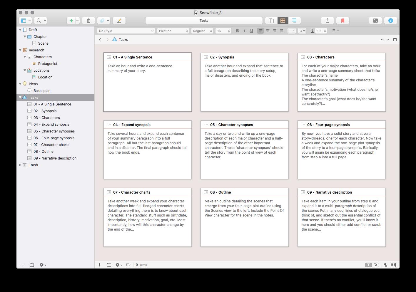 Snowflake Method Template Update For Scrivener 3 X In