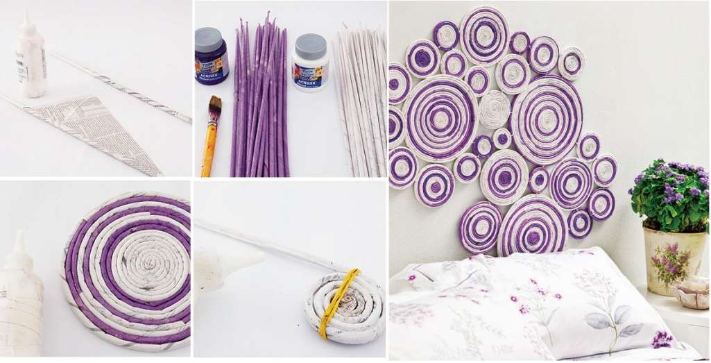 DIY-From Newspaper to Cool Wall Artwork - http://www.amazinginteriordesign.com/diy-newspaper-cool-wall-artwork/