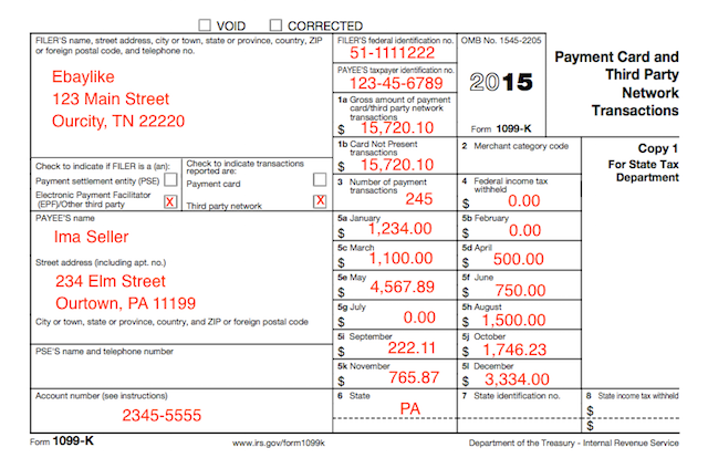 Understanding Your Tax Forms 2016: 1099-K, Payment Card And Third