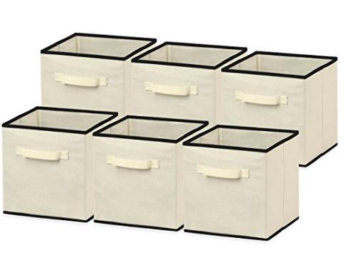 6 Pack SimpleHouseware Foldable Cube Storage Bin,11/'/'H x 10.75/'/' W x 10.75/'/' D