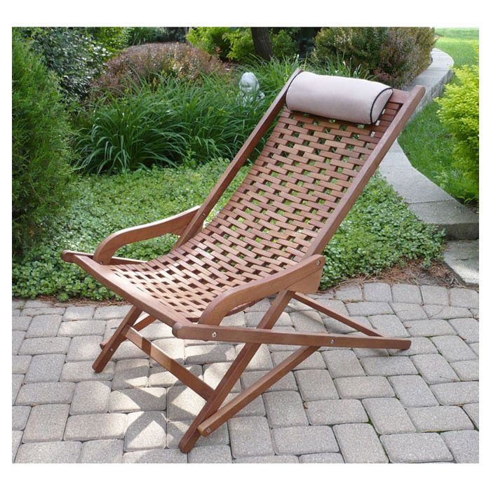 lay back wooden lounger looks real comfy yard ideas outdoor rh pinterest com au