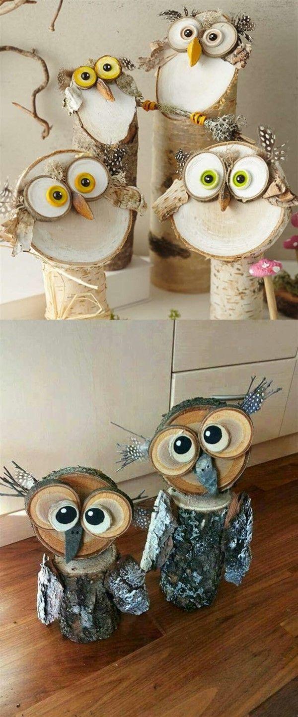 Wood Slice Animal Figures For Christmas Ideas