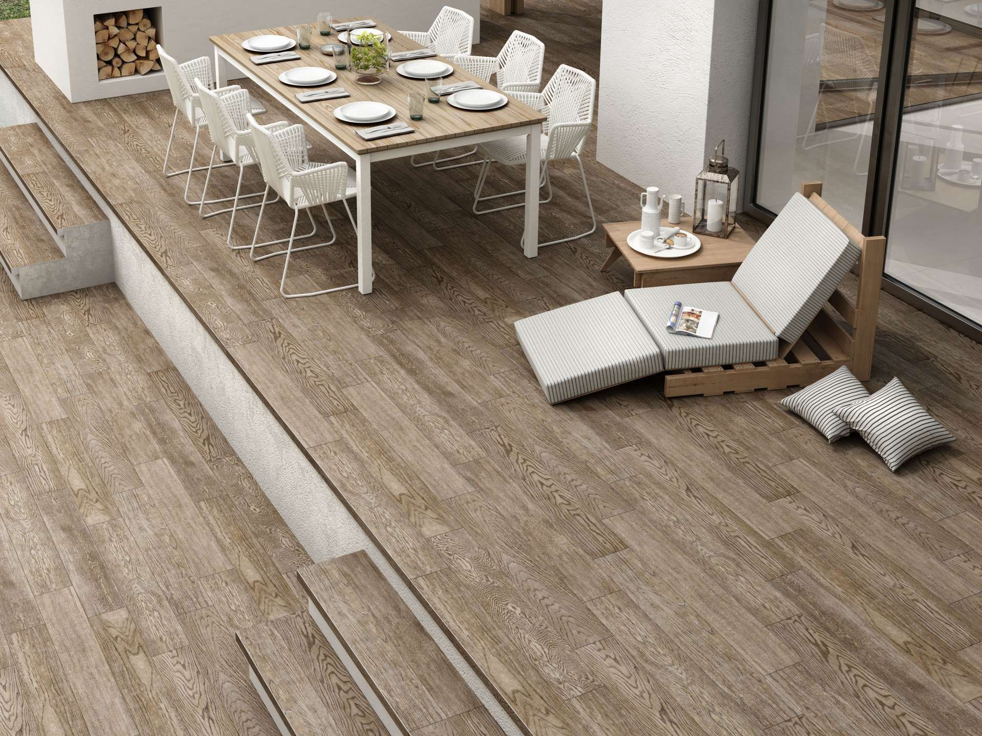 Wood Effect Non Slip Floor Tile