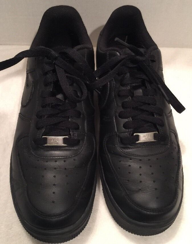 online store 68eb0 b51a7 Nike Air Force 1 039 82 Men 039 s Black Leather Low Sneakers AF 1 039 82 Sz  9 5   eBay