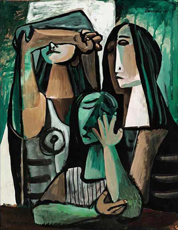 Mario Carreño y Morales (Cuban, 1913 – 1999) - Three women