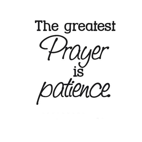 Life quotes about patience words from the wise pinterest the greatest prayer is patience thecheapjerseys Images